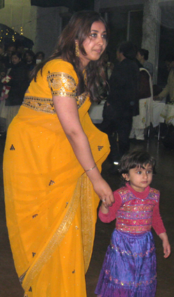 Family affair: Many families attended the Chak de India Countdown Party, including some 60 children.