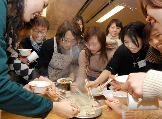Students impart art of dumpling making