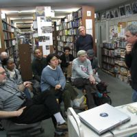 Meet the writers: Longtime Japan resident Mark Schilling talks about film and his latest book, 'No Borders, No Limits,' at a recent BookNotes Lecture at Good Day Books. The lectures allow audience members the opportunity to meet and talk with authors in an intimate setting. | EDAN CORKILL PHOTOS