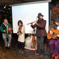 Greening of Tokyo: Members of a band play Irish music at the start of the annual gathering for St. Patrick's Day celebrations held by the Japan-Ireland Society in Tokyo on Sunday. | KAZUAKI NAGATA PHOTO