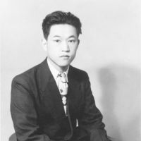 Looking the part: Tadao Sato at around age 20, when he 'really became serious' about watching and writing about films. | TADAO SATO PHOTO