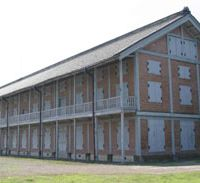 Below: The red brick silk warehouse is included in the guided tour of the mill complex. | COURTESY OF THE TOMIOKA SILK MILL