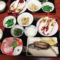 Fine fare: A dinner of local vegetables, fish and Ise shrimp at the two-room inn Choya.