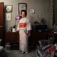 Nobuko Pollock, a survivor of the 1945 atomic bombing of Nagasaki, poses at her home in Belfast, Northern Ireland. | PACEMAKER PRESS AGENCY