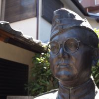 The bust of Bose at Renkoji Temple in Tokyo. | JON MITCHELL PHOTO