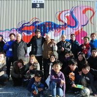 Graffiti brightens Tohoku housing units