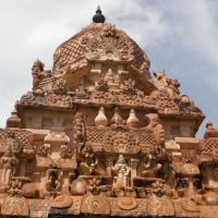Gem of devotion: A detail from little-visited Gangaikondacholapuram, an 11th-century Chola-era temple which, with another named Darasuram, lies inland from Tranquebar. | JEFF KINGSTON PHOTOS