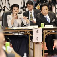 Hard to answer: Upper House member Renho during the 2009 jigyo¯ shiwake budget-review sessions. Her question, 'What's wrong with being the world's No. 2?,' has haunted Japan's supercomputer policy to this day. | KYODO