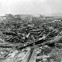 Force of nature: Though only five meters high — far lower than many on record there — the last major tsunami to affect Zushi and Kanagawa Prefecture, in 1923, left awful damage in its wake, as this shot taken in neighboring Kamakura shows. | KAMAKURA CITY