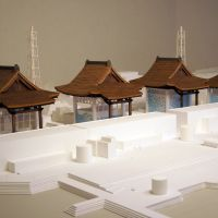 Long-term plan: Architect Katsuhiro Miyamoto's novel means of safely mothballing the Fukushima No. 1 nuclear power plant, and the highly radioactive fuel likely to remain there even after the current crisis is resolved, is to turn it into a Shinto shrine — seen here in a model and a computer rendering. | KATSUHIRO MIYAMOTO
