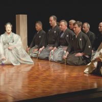 Emmert, who has studied and performed noh for nearly four decades, has led an English noh theater company since 2000. | MAMI MARUKO