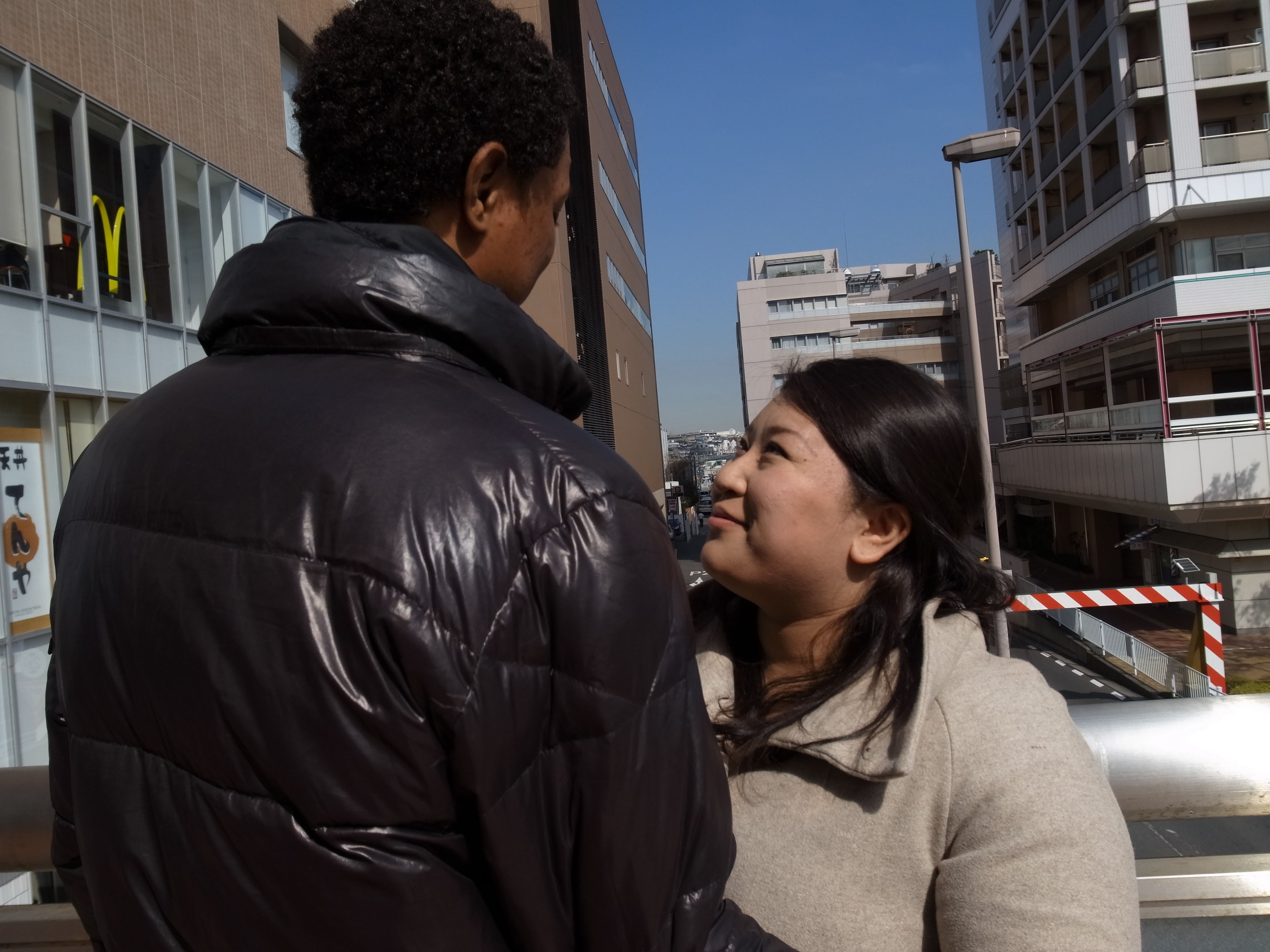 Free hugs: Snow Hanada can hold her Dominican husband now that he is on provisional release from the East Japan Immigration Center in Ushiku, Ibaraki Prefecture, where he was held for seven months after overstaying his visa. Now she wants to help other families going through the same separation ordeal. | SUMIE KAWAKAMI