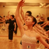 Grace under pressure: Sixteen-year-old Wakana Tamura from Gunma Prefecture competes for a place at England's renowned Elmhurst School for Dance in the Birmingham Royal Ballet-associated institution's recent first-ever audition in Tokyo. | EDAN CORKILL PHOTO