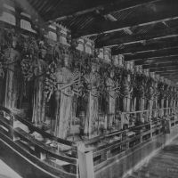 Old guard: Some of the 1,000 bodhisattva statues in the Sanjusangendo Hall of Rengeoin Temple in Kyoto. | WIKI COMMONS
