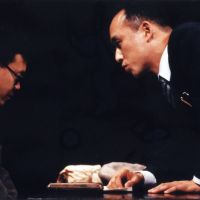 No joke: A 1930s comedy writer (Yoshimasa Kondo, left) is grilled by a policeman (Masahiko Nishimura) in 1996's 'Warai no Daigaku (The Last Laugh).' | &#169; MASAHIKO YAKOU &#169; ARCO