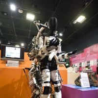 Looking ahead: Keijiro Yamamoto's Power Assist Suit being developed at Kanagawa Institute of Technology on show at the TEPIA exhibition space in Tokyo on June 12, 2012. An improved version is set for release soon. | ROB GILHOOLY PHOTOS