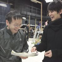 Working things through: Hideaki Noda (left) and Satoshi Tsumabuki (right) during a rehersal of 'To the South' in 2011. | © KISHIN SHINOYAMA