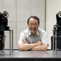Roboprof: Masatoshi Ishikawa, whose team has made a robot no human could ever beat at rock-paper-scissors. | ROBERT GILHOOLY