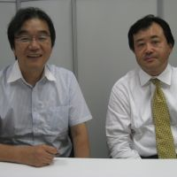 Home helps: Koichi Izawa (right) and Chiaki Imaizumi, of the Japan Telework Association.