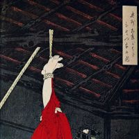 Graphic: Tsukioka Yoshitoshi's woodblock print 'Adachigahara hitotsuya no zu' ('The lonely house on Adachi Moor'; 1885) depicts the horrifying legend of Onibaba.