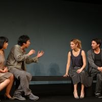 Sweet somethings: Three Japanese actors (left) playing a Japanese man, and three French actors playing a French woman discuss love in 'Understandable?' | GOTANDADAN