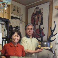Samurai-armor restorers Chizuru and Fumio Nishioka