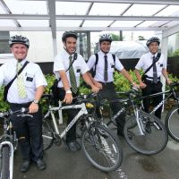 Bikers for Jesus: Mormon missionaries pose for a photo before making their rounds at the Church of Jesus Christ of Latter-day Saints meetinghouse in Gifu. | JOHN SPIRI