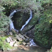 You will come across a heart-shaped waterfall as you hike through a ravine on the Yakushima Island, Kagoshima Prefecture. | AMY CHAVEZ