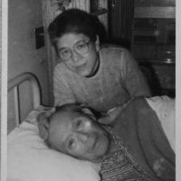 Care giving: Yoshiko Tatsumi tends to her father, Yoshio, in the late 1970s — even getting him to eat steak. | YOSHIKO TATSUMI