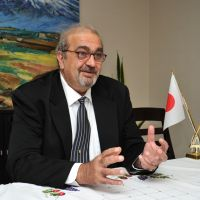 Diplomatic approach: Grant Pogosyan, ambassador of the Republic of Armenia, gives an interview at the Armenian Embassy in Tokyo. | YOSHIAKI MIURA