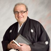 Pogosyan, dressed in a traditional Japanese hakama, taught for 21 years at International Christian University in the city of Mitaka in Tokyo. | COURTESY OF GRANT POGOSYAN