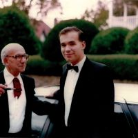Dapper duo: Michael Woodford with his father, Noel, an electrical engineer who once ran power stations, but who had become a university lecturer by the time this photo was taken in Southend-on-Sea, southeast England. | PHOTO COURTESY OF MICHAEL WOODFORD