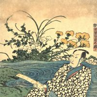 A woodblock print by Utagawa Kuniyoshi (1797-1861) of a poet beside a river.  courtesy of stuart varnam-atkin. | COURTESY OF STUART VARNAM-ATKIN