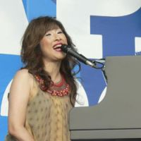 Akiko Yano plays as part of Yanokami at the Rock in Japan festival