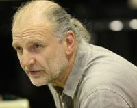 Focused: Peter Konwitschny prepares for the Tokyo opening of his latest opera production, 'Eugene Onegin.'