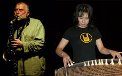 Peter Brotzmann and Michiyo Yagi | NANCY PARISI PHOTO