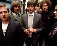 Low key: Nick Hodgson (center) of Kaiser Chiefs describes the band's third album, 'Off With Their Heads,' as 'a grower.'