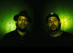 Dälek and DJ Baku (below)