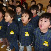 Song for the suffering: Students from Child School in Ninohe, Iwate Prefecture, sing 'Higher Than the Sky' for survivors of the March 11 earthquake and tsunami. | SACHIKO NAMIOKA