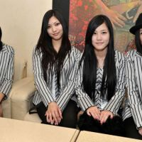 Brighter days ahead: The four members of Bright (from left: Meg, Mimi, Nanaka and Nagi) are donating time and effort to various charities that are helping earthquake survivors, including Action for Nippon. | YOSHIAKI MIURA PHOTO