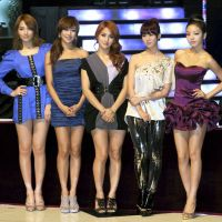 New kids on the block: The members of South Korean pop group Kara managed to win over Japanese fans in 2011 with their album 'Super Girl.' | KYODO