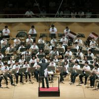 Big opportunity: The Michinoku Wind Orchestra performs at Suntory Hall in Tokyo on Aug. 17. | THE TOKYO FOUNDATION