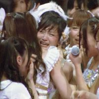 Friends forever: AKB48's Atsuko Maeda announces her intent to 'graduate' from the idol group in March. | KYODO