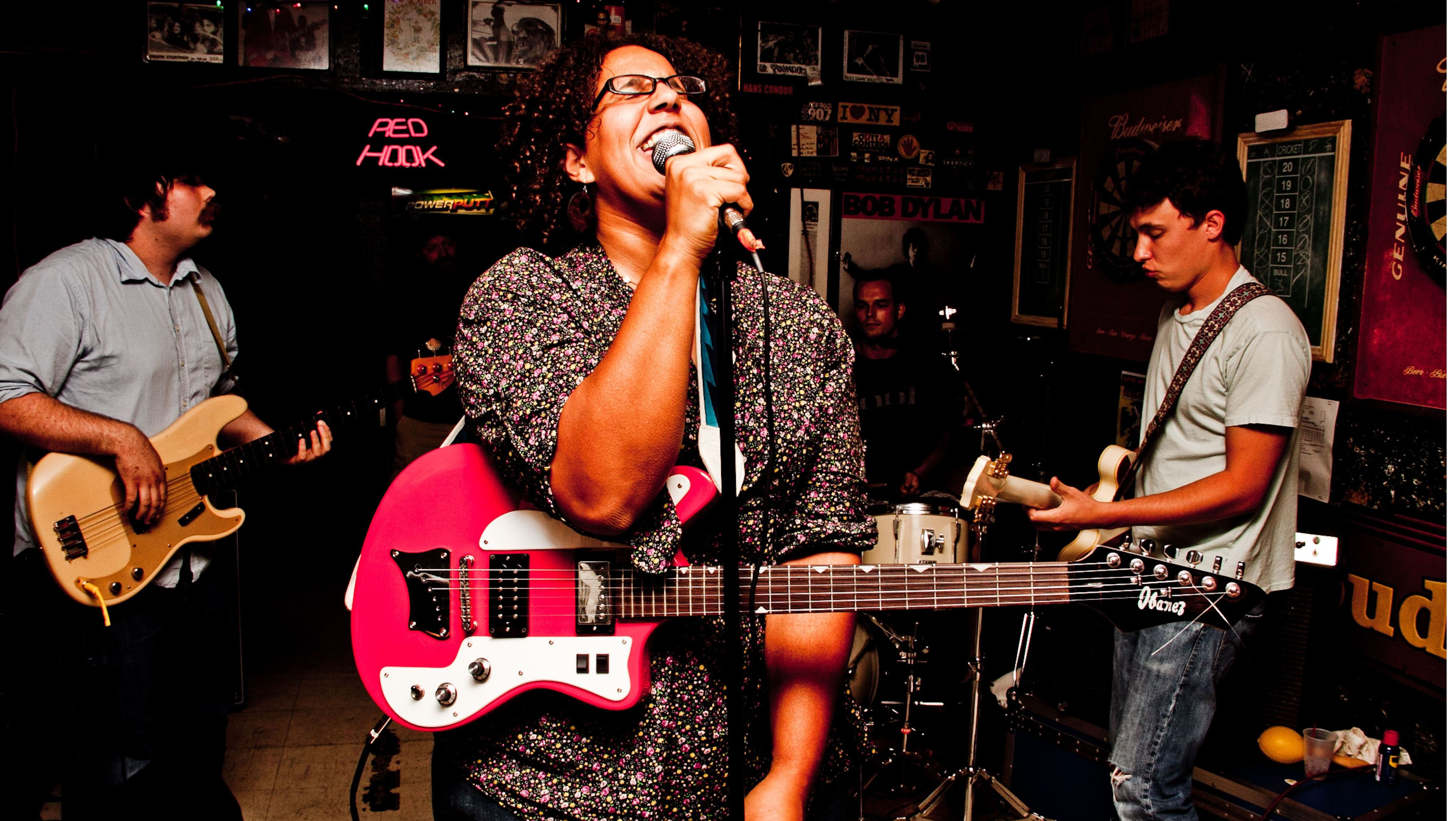 Sound of the South: Alabama Shakes drummer Steve Johnson says he and his band (front, from left: Zac Cockrell, Brittany Howard and Heath Fogg) have been taken aback by the sudden praise they've received from high-profile musicians.  DAVID A. | SMITH
