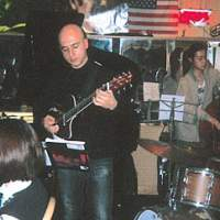 Italian jazz guitarist Gianni Guido performing at Tokyo's Four & More venue earlier this year.