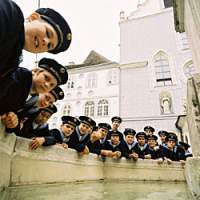 Vienna Boys' Choir are all smiles before their Japan tour.