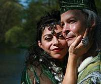 Richard Clodfelter as Oberon and Natalia Cambell as Titania