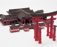 Hiroshima's Itsukushima Shrine in plastic bricks