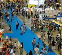 The most toys: Visitors mill about at Tokyo Big Sight in Ariake during last year's International Tokyo Toy Show. Japan's largest annual toy fair, to be held this weekend, is free to the general public and will include a Kid's Park. | COURTESY OF ITTS