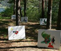 Camp all about art, nature